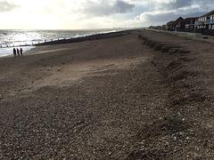 Post storm Katie beach on Hayling Island
