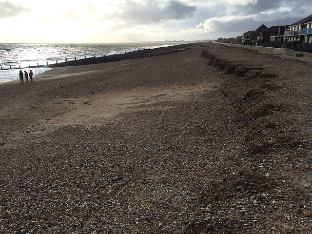 Post storm Katie beach on Hayling Island