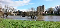 20150402 0005Hw [D~SHG] Weser, Hochwasser, Rinteln