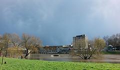 20150402 0006Hw [D~SHG] Weser, Hochwasser, Rinteln