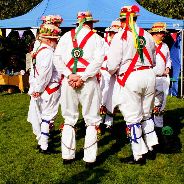 Bathampton Morris Men in Conference at Trowbridge Apple Fair, 2013