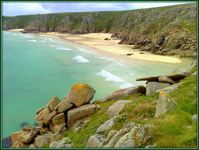 Pednvounder Beach and Cornish granite