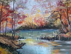 Pastel mai 2020 - la rivière