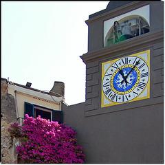 Capri : la torre dell'orologio in Piazzetta - (802)
