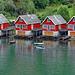 Red houses in  Flåm