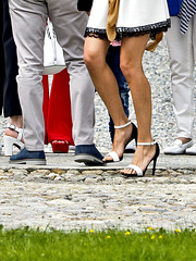 High heels betwen the stones