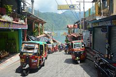 Guatemala, The Main Kind of Passenger Transport in the Small Town of San Pedro La Laguna