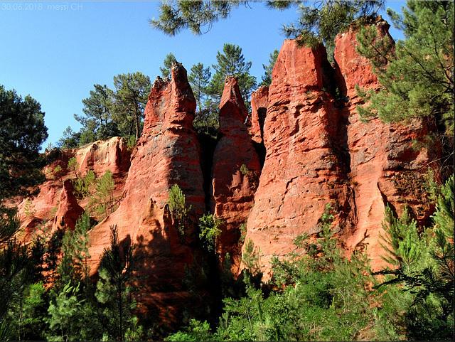 Roussillon – sentier des ocres