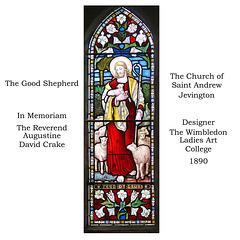 Jevington - The Good Shepherd   - A.D.Crake memorial - by Wimbledon Ladies Art College