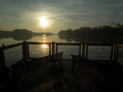 HFF at sunrise