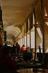 Arches at The Liston, Corfu, Greece.