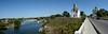 Белая Церковь, Георгиевская Церковь и Костел Святого Иоанна Крестителя на берегу реки Рось