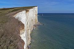 Beachy Head Lighthouse - the cliffs