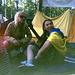 Lena & Anya with guitar