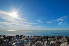 morgens am Strand von Malaga (© Buelipix)