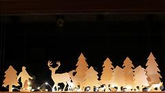 Vorweihnachtliches Fensterbild