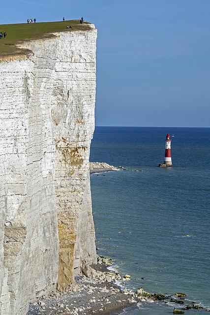 Beachy Head Lighthouse - high cliffs