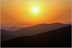 Sunset in the mountains ...