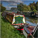 Canal boats at Weedon