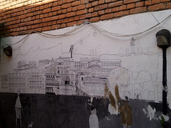 Unfinished mural.