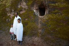 Ethiopia, Lalibela, Near the Hermit's Cell in the Church of Bite-Medkhane-Alem