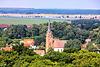 Burg Stargard, Blick vom Denkmalsberg