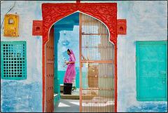 Façade colorée à Jaisalmer