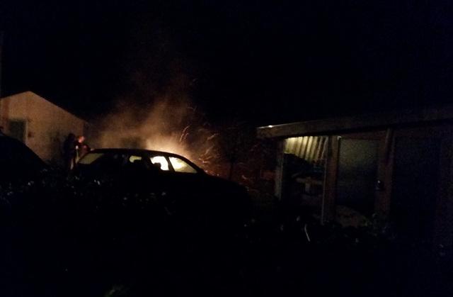 car on fire?