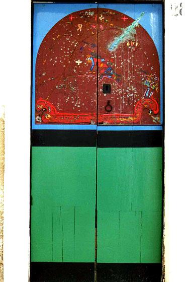 Kunstprojekt in Peschici - Alte Türen neu gestaltet/Scan von 1986