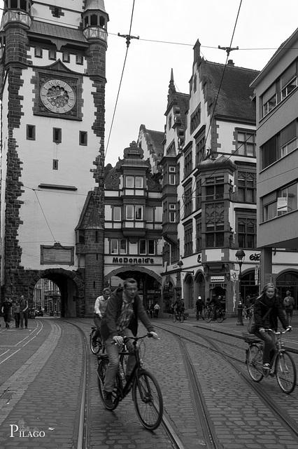 Freiburg's Street life · Martinstor