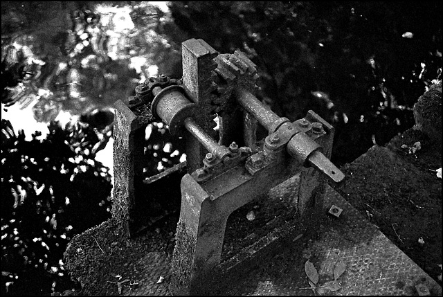 Sluice-gate mechanism, Skipton woods.