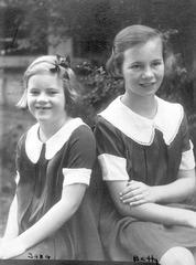 Sara and Betty Parkes, c. 1933