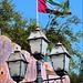 emirati arabi uniti : lamppost and flag in Abu Dhabi - (603)