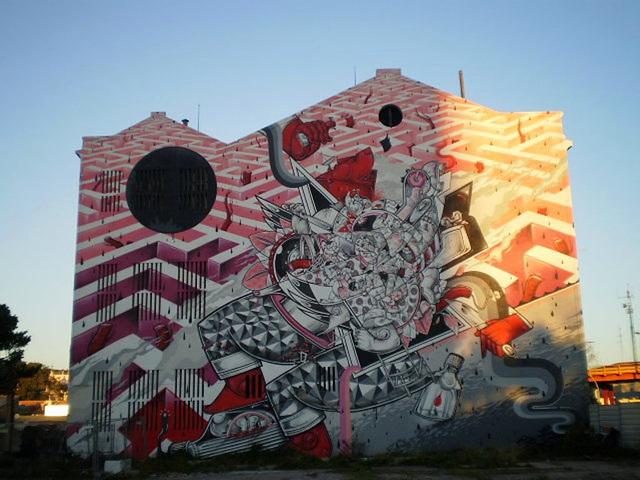 Mural at Alcântara, Lisbon.