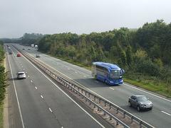 DSCF9540 Freestones Coaches (Megabus contractor) E11 SPG (YN08 JBX) on the A11 near Kennett - 2 Sep 2017