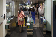 Omodesando Metro Station 02 - Rushing