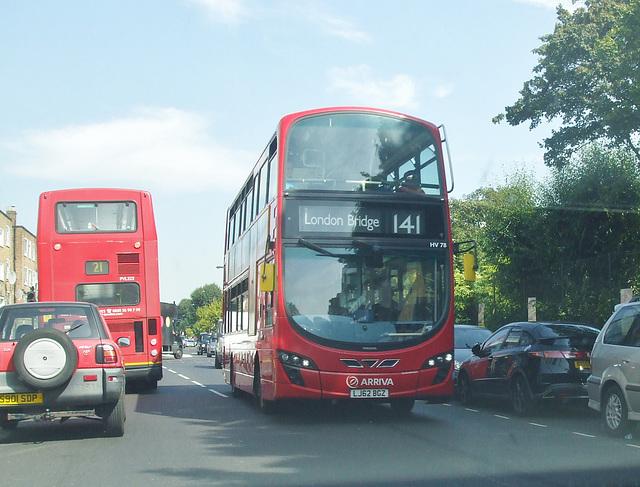 DSCF4837Arriva London LJ62 BGZ and Go-Ahead London (London Central) PJ52 LWA - 24 Aug 2016