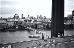 North from Tate Modern.