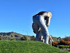 Statue of a shearer.