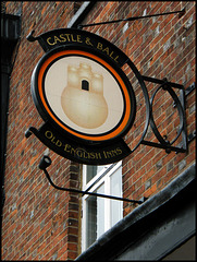 old Castle & Ball sign