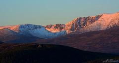 Lochnagar at sunrise.