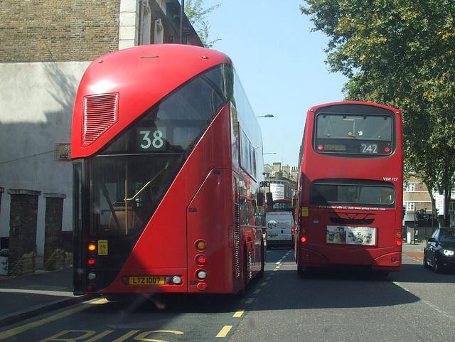 DSCF4831 Arriva London LTZ 1007 (ex LT12 GHT) and LF52 UPB - 24 Aug 2016