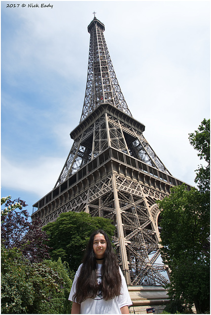 April and the Eiffel Tower