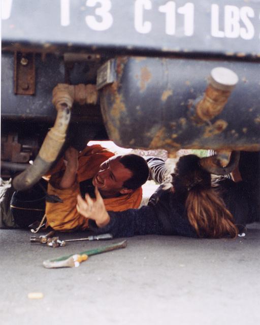 mark & karen under truck