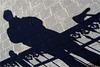 bicyclist's shadow