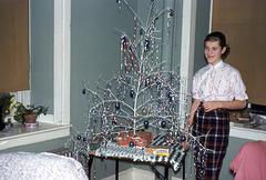 Girl with a Twig Christmas Tree, 1958