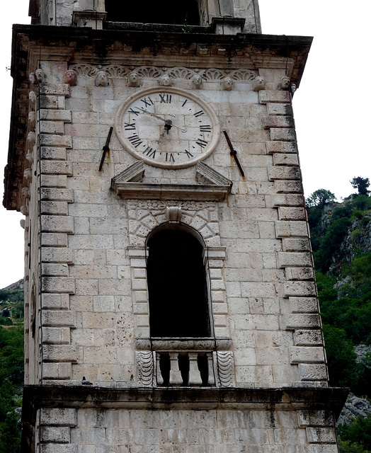 Kotor- Clocktower of the Cathedral of Saint Tryphon
