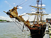 Tres Hombres. The Worlds only engineless Cargo Ship