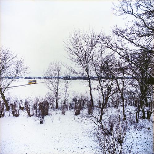 Gelber Bus im Schnee // -falsterhus-bus01-co-07-02-17