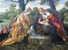 Detail of The Finding of Moses by Tintoretto in the Metropolitan Museum of Art, September 2021